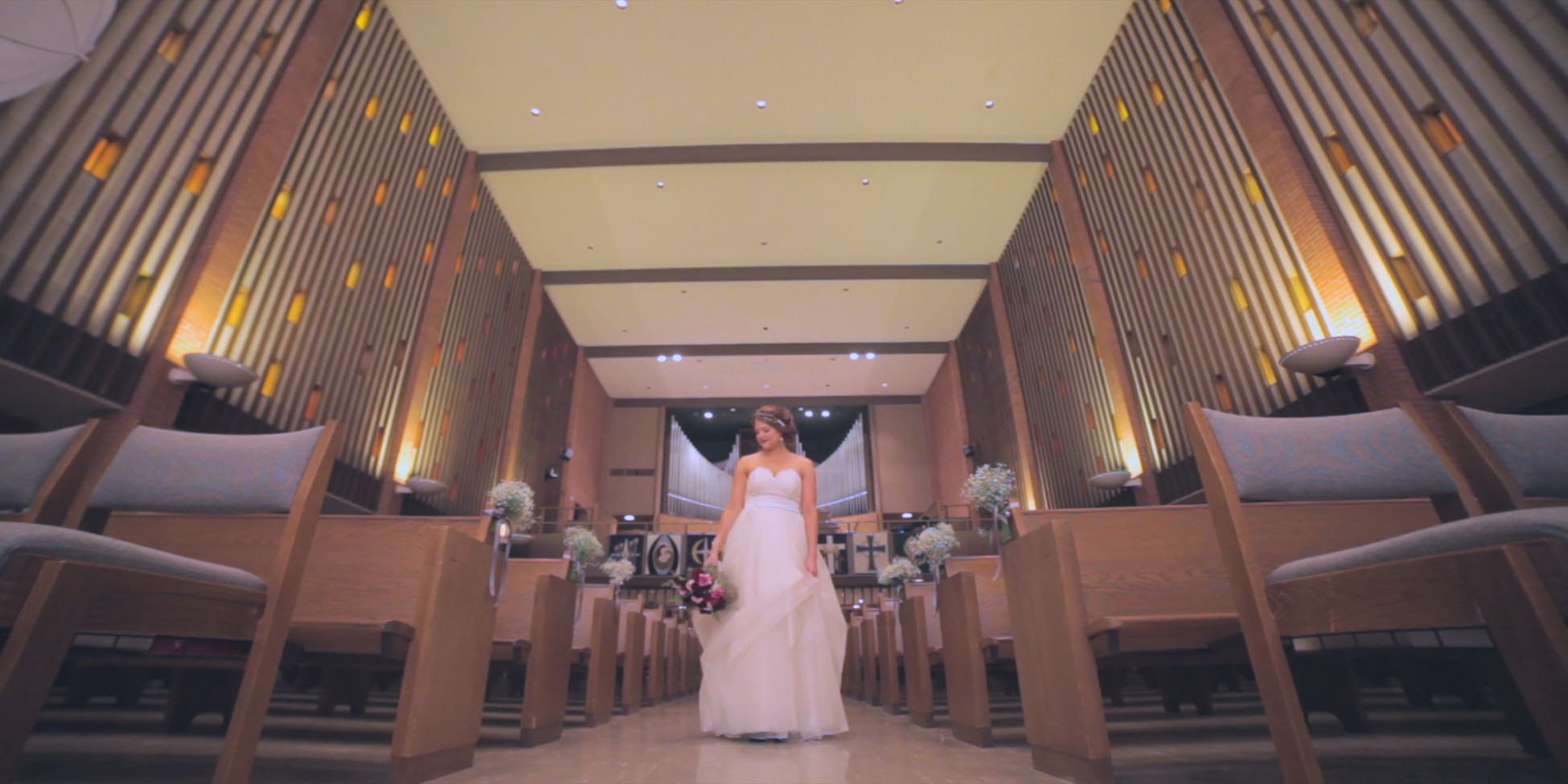 bride church aisle