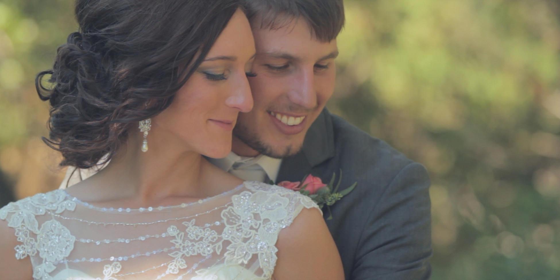 wedding bride groom smile