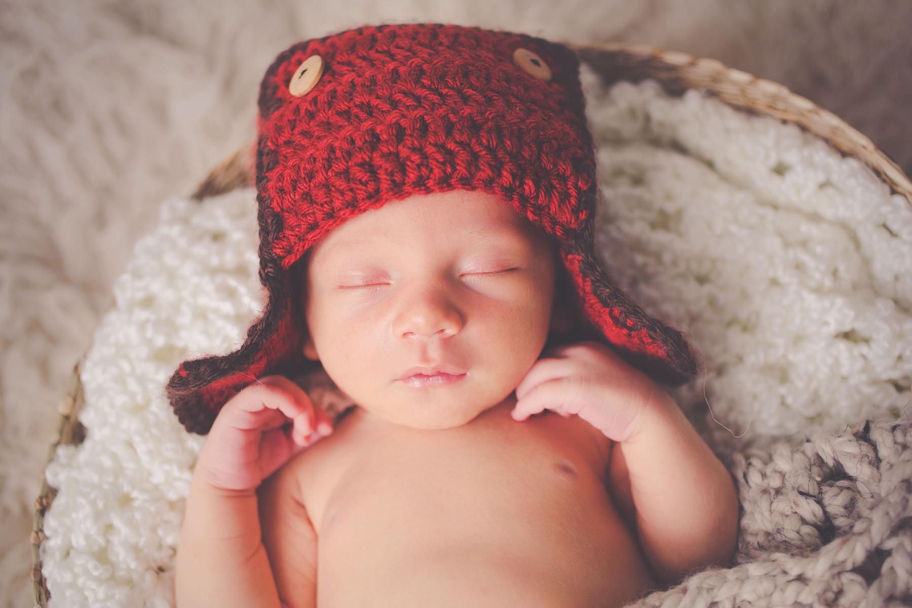 baby red cap