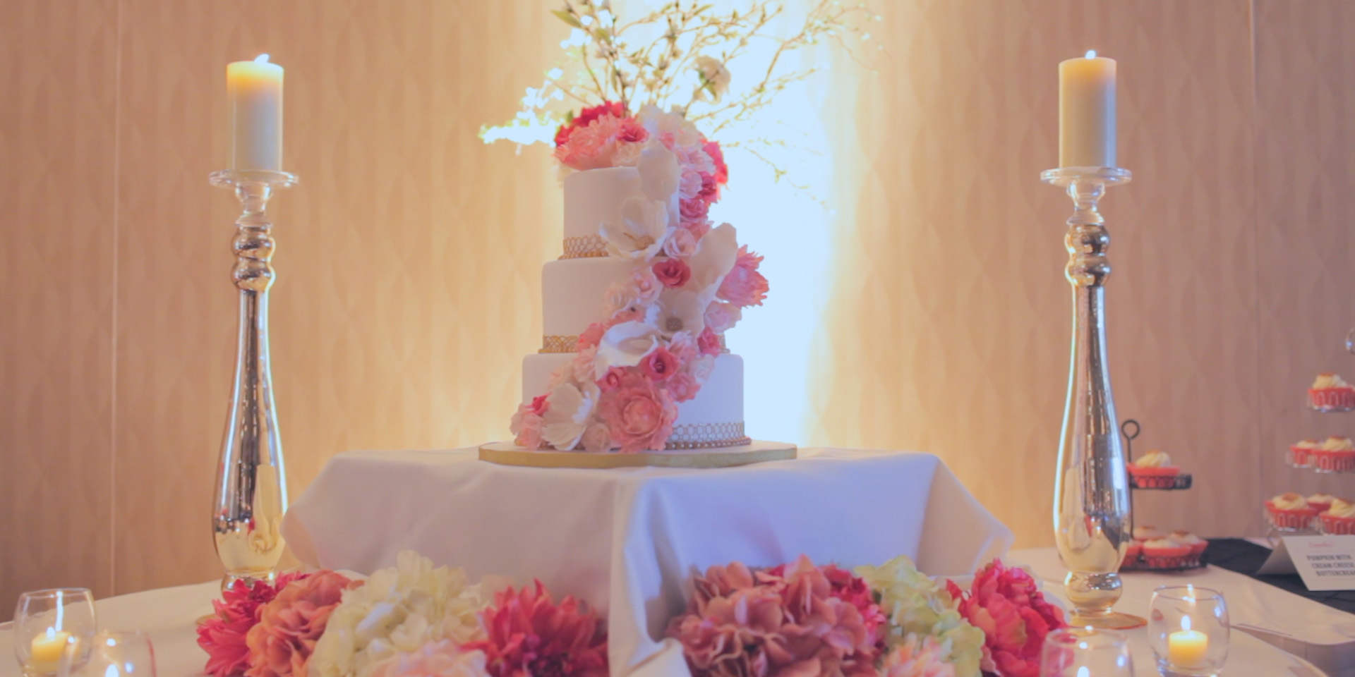 wedding rose cake