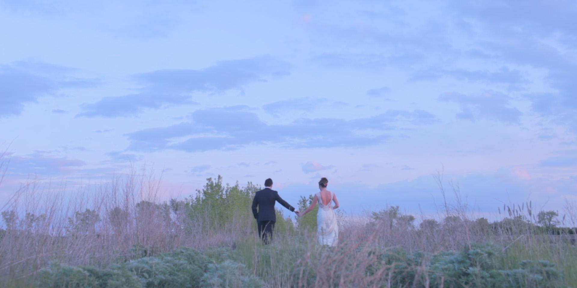 wedding story sunset photo