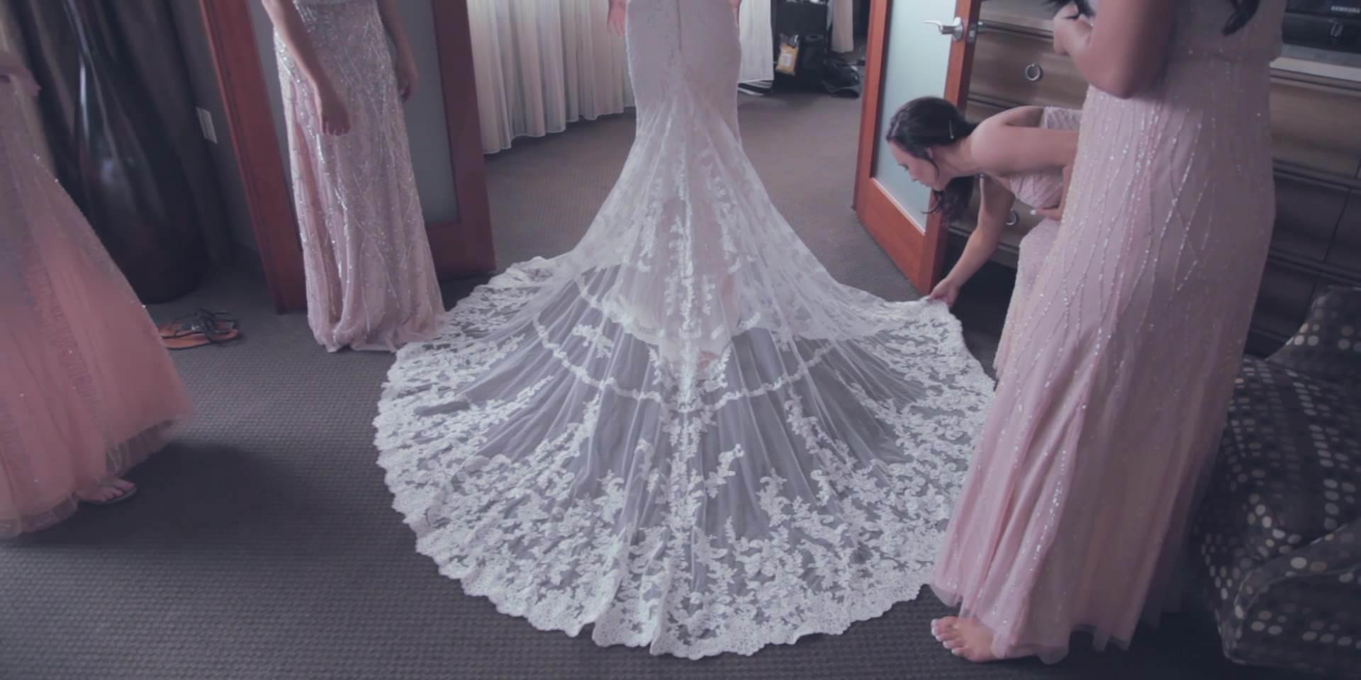 bride dress veil