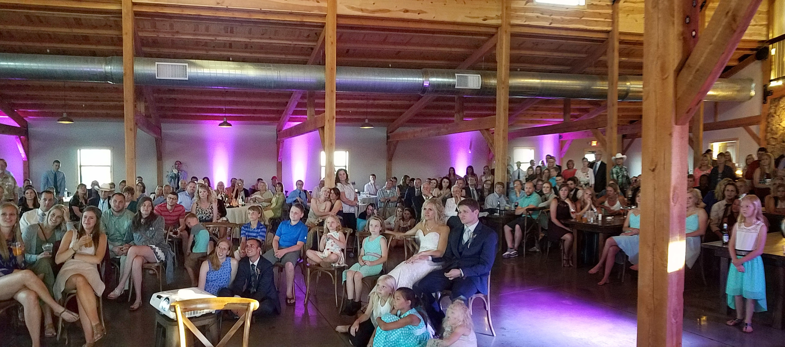 wedding guests watching same day edit