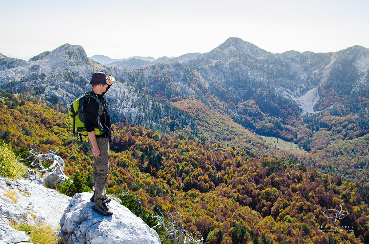 Pogled ka Dobrom dolu i najvišim vrhovima Orjena