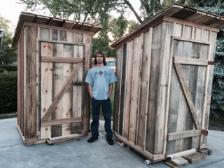 Austin with the Completed Project