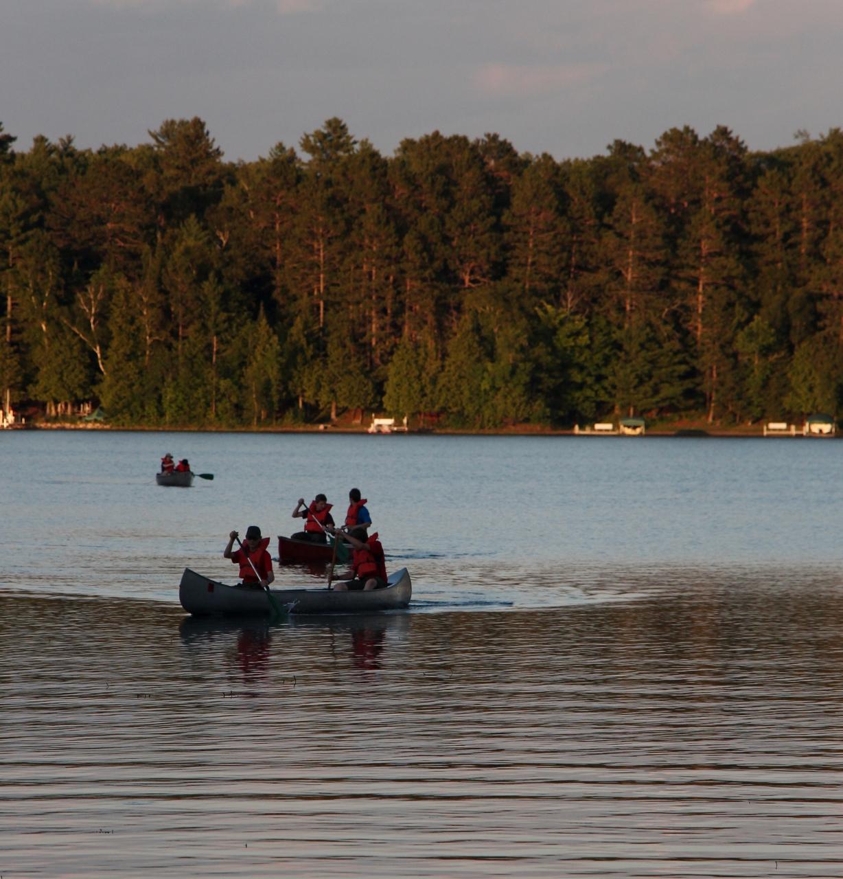 canoeing activity