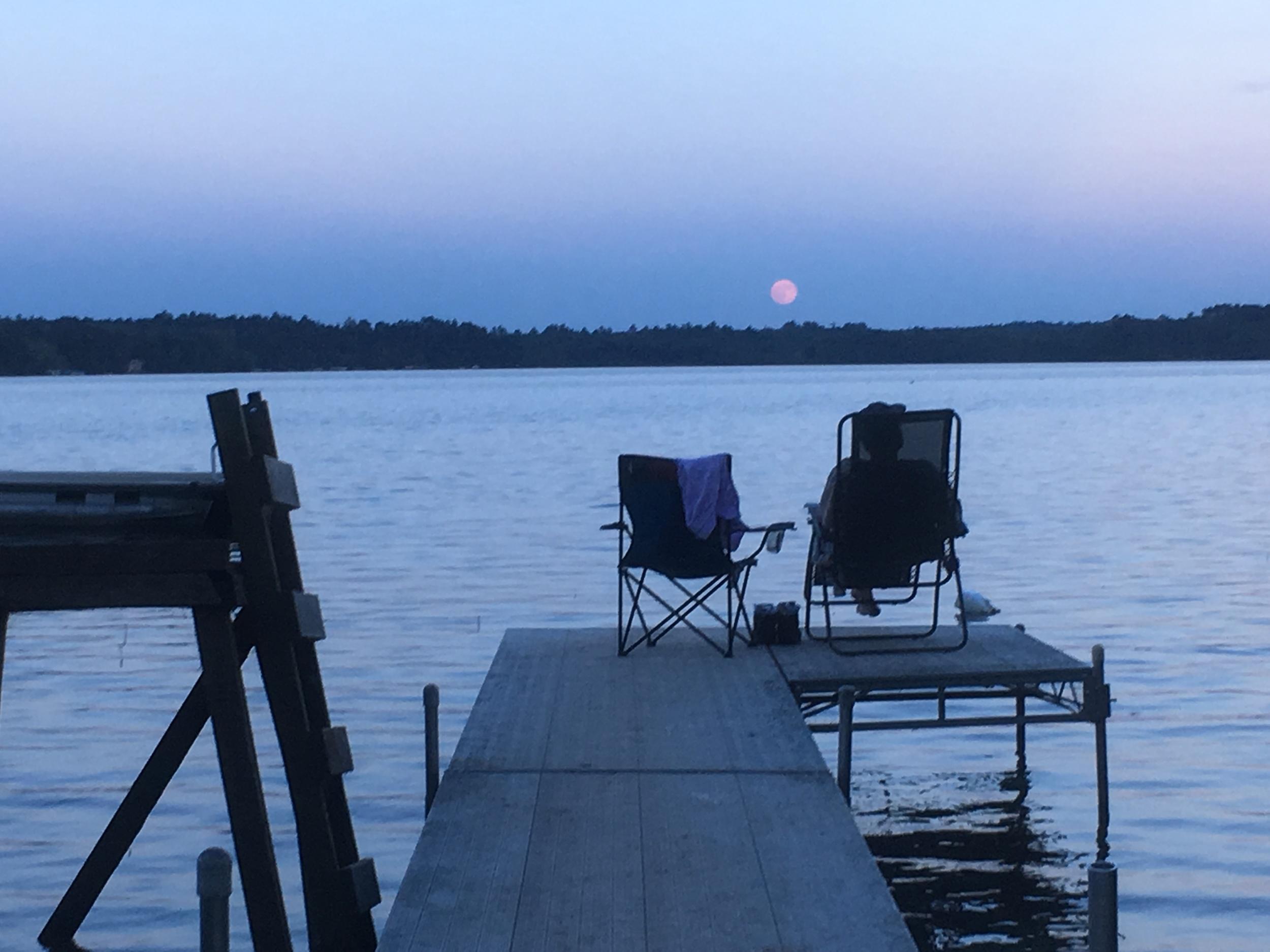 beautiful moonrise