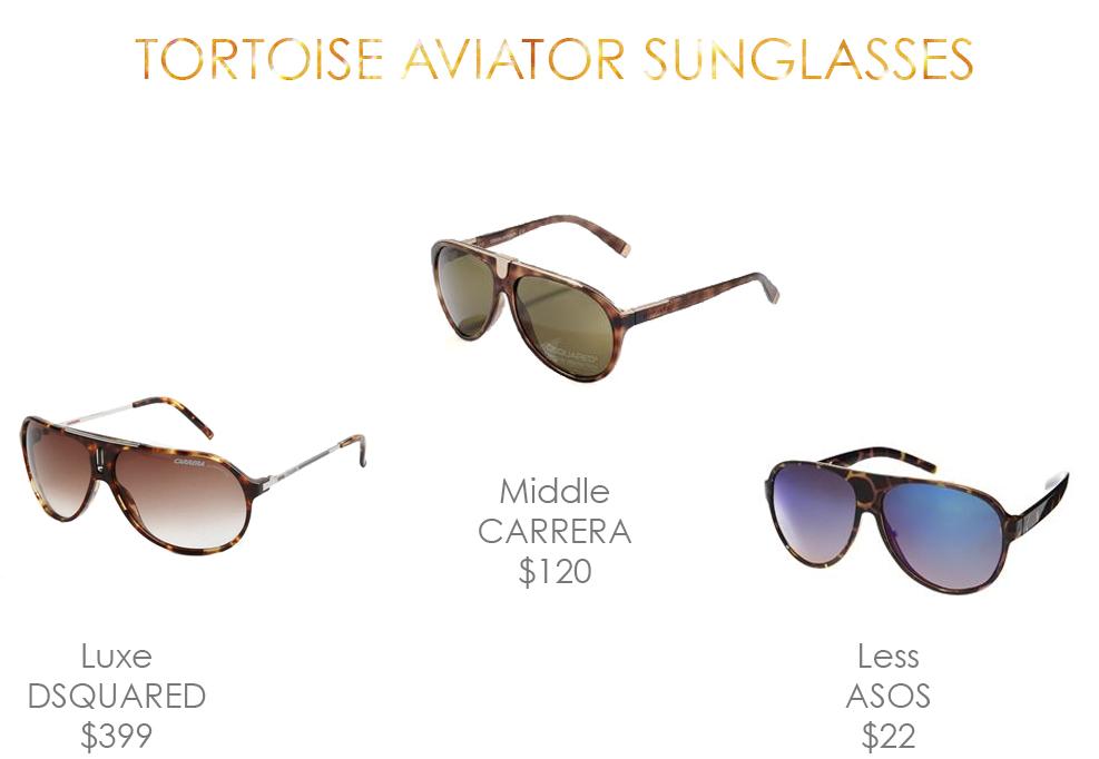 tortoise aviator Sunglasses fashion