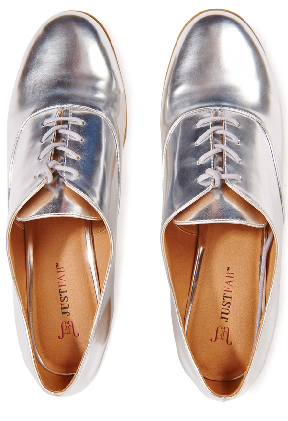 just fab silver shoes