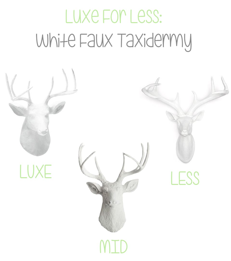 White Faux Taxidermy Luxe