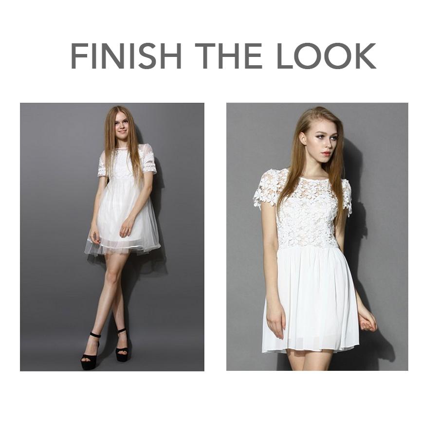 mod white dresses