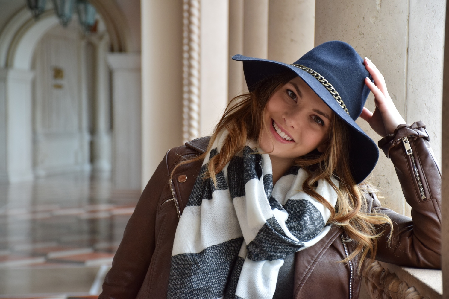Statement scarf and hat style - 204 Park