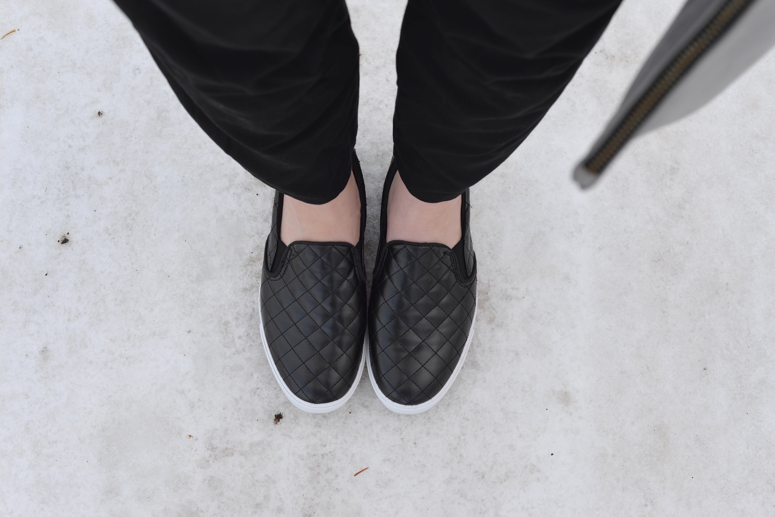 quilted slip ons