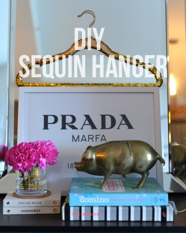 DIY sequin hanger