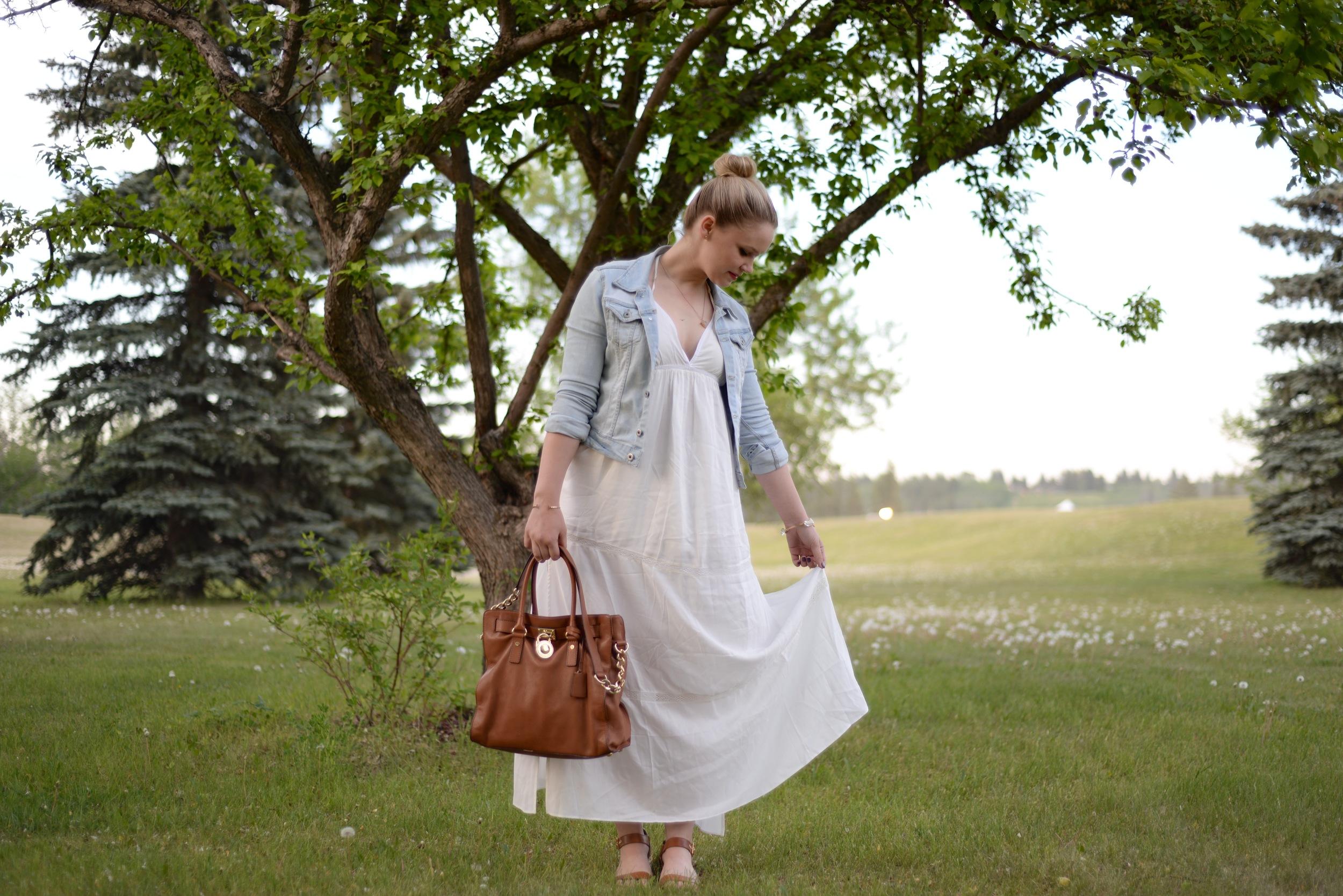 gentle fawn white dress