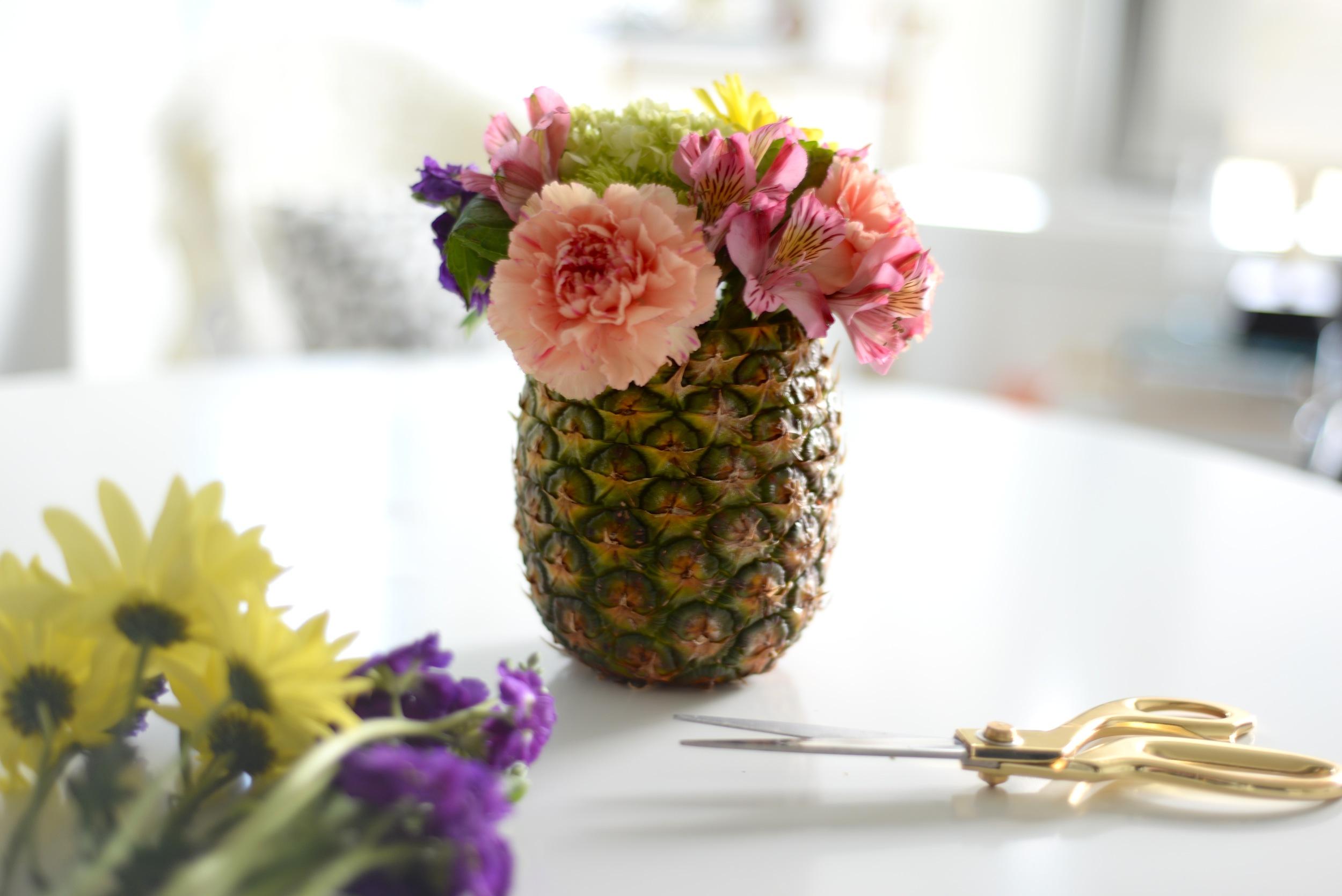 pineapple centerpiece diy