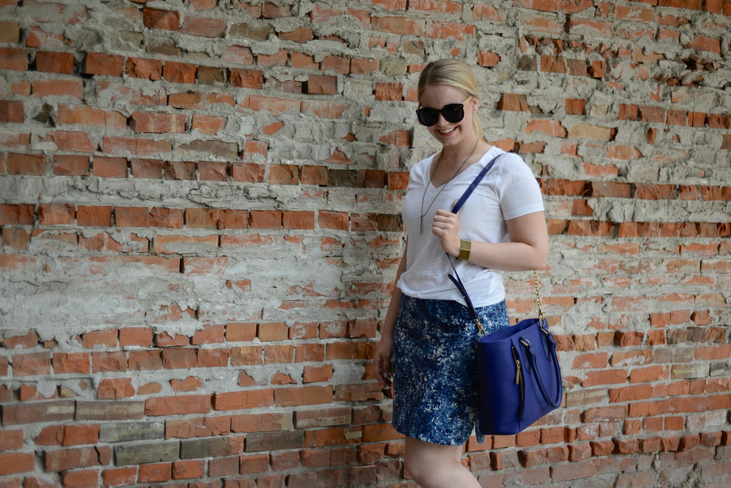 joe fresh blue skirt fashion