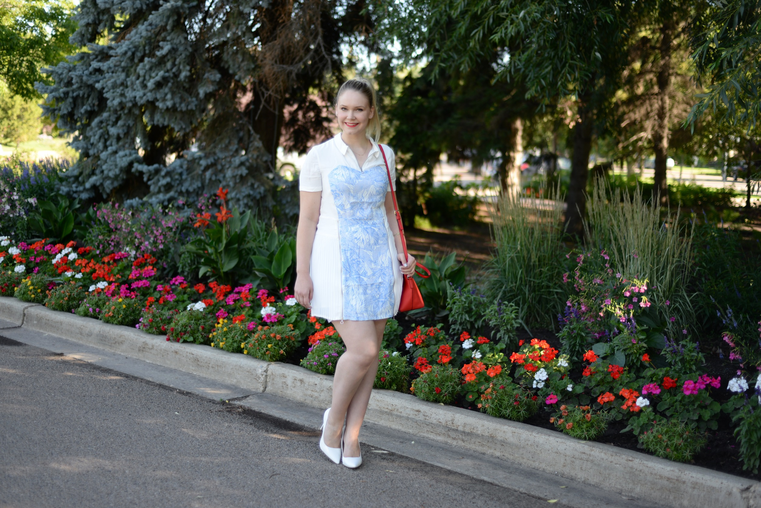 white dressometry summer fashion