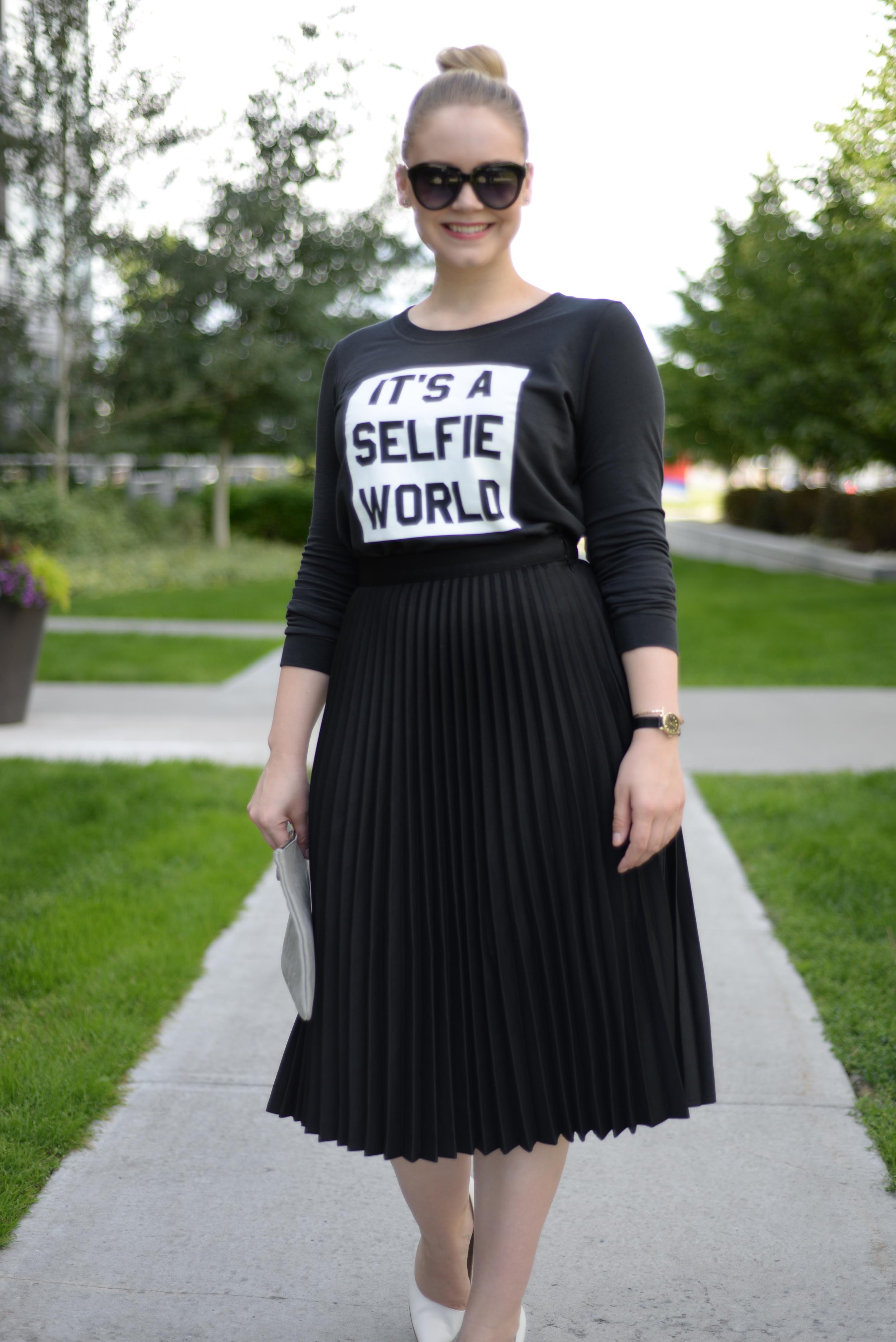 black skirt for summer