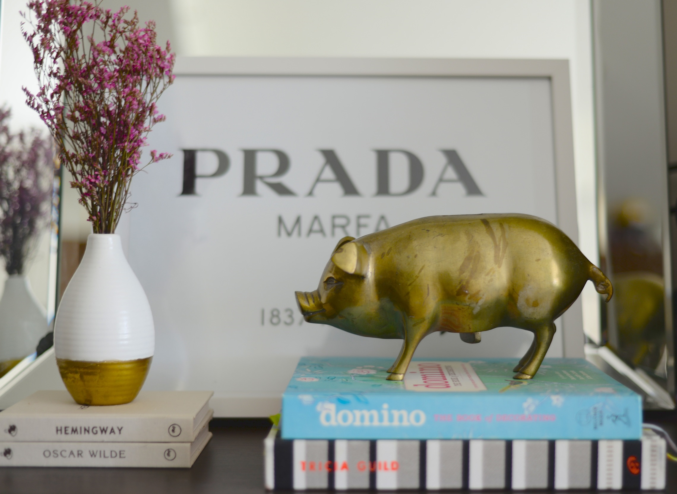 tricia guild, domino book, brass pig