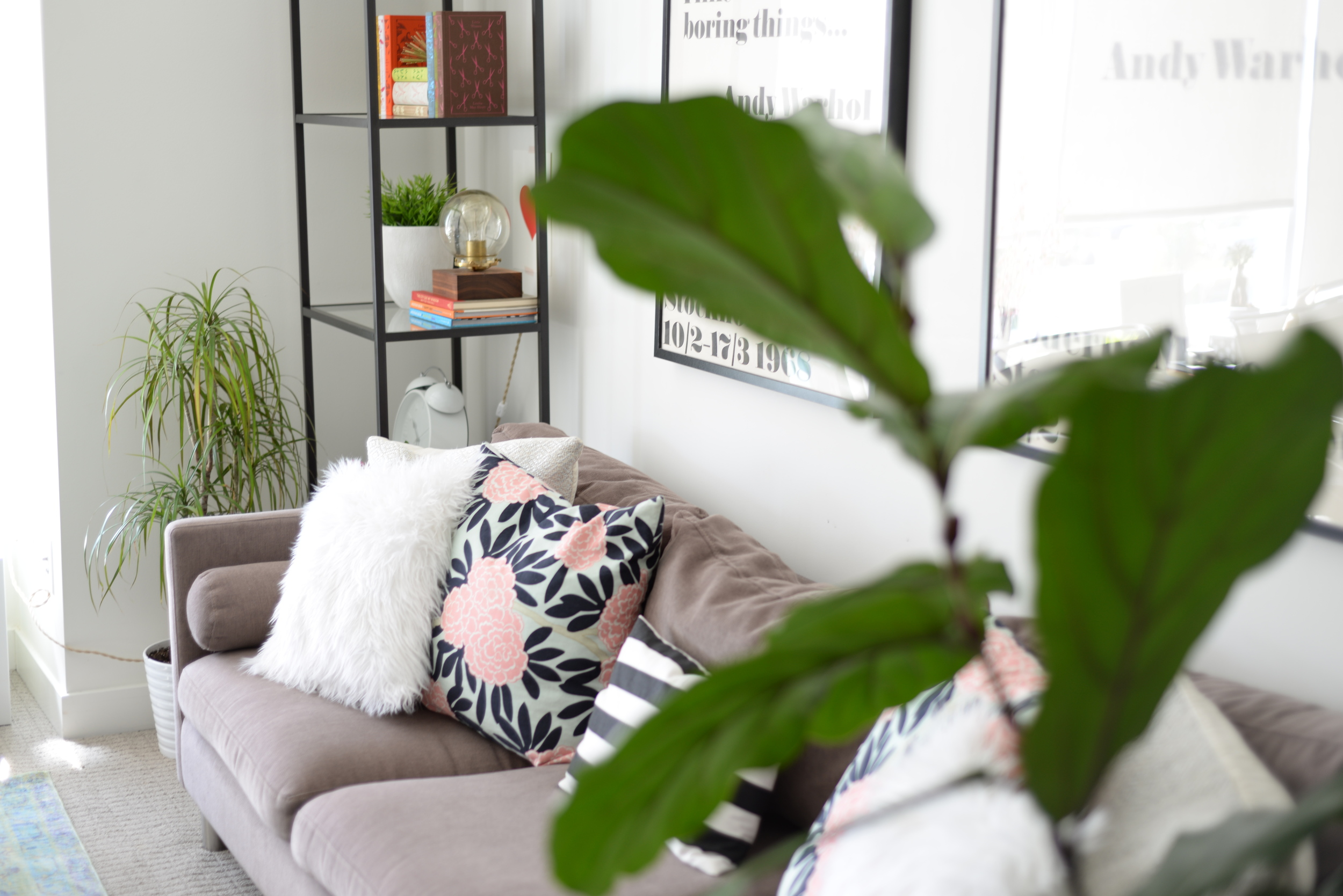 blogger home tour, eclectic living room