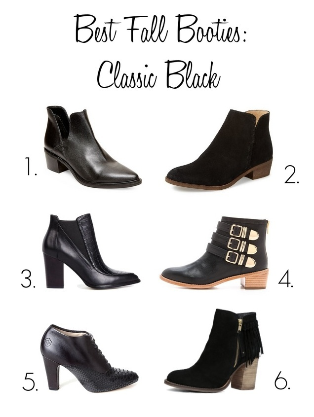 fall booties, best black booties