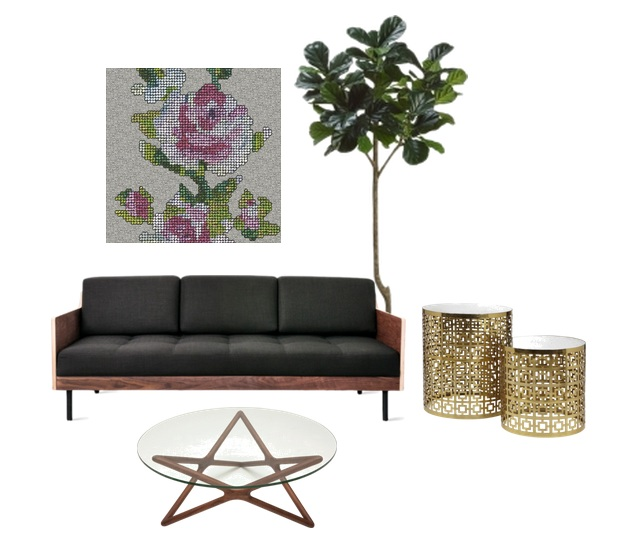 Image Sources:  Plant  //  Side Tables  //  Sofa  //  Table
