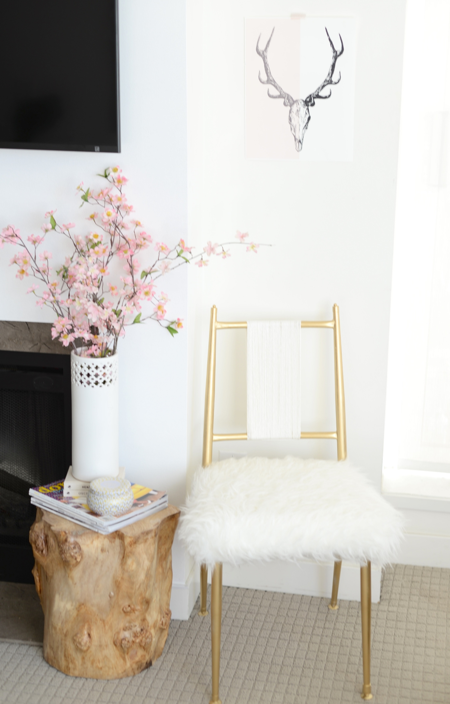 glam chair diy