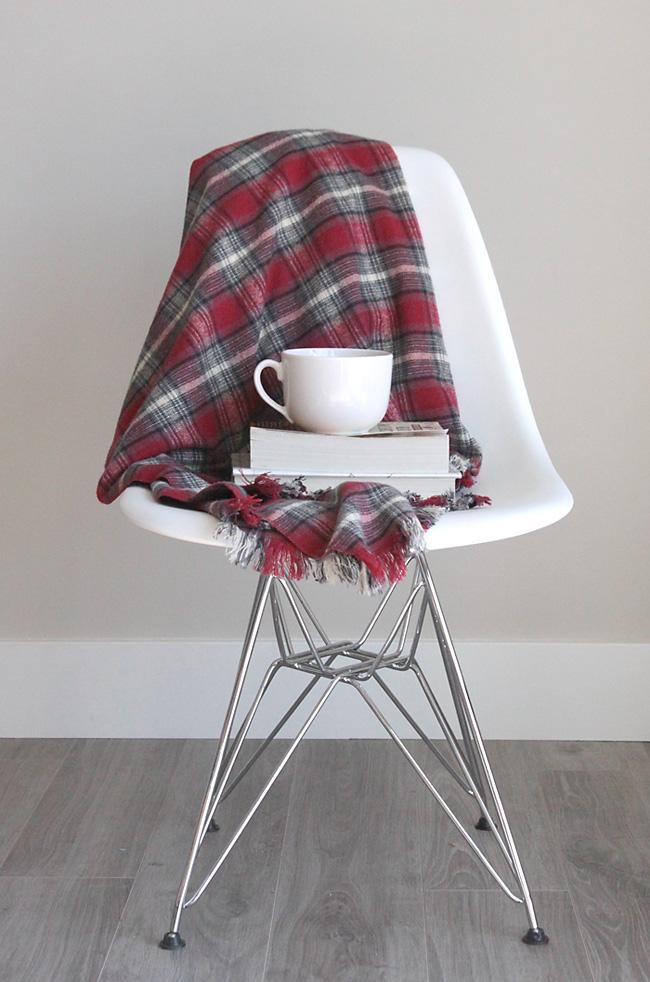 flannel throw DIY