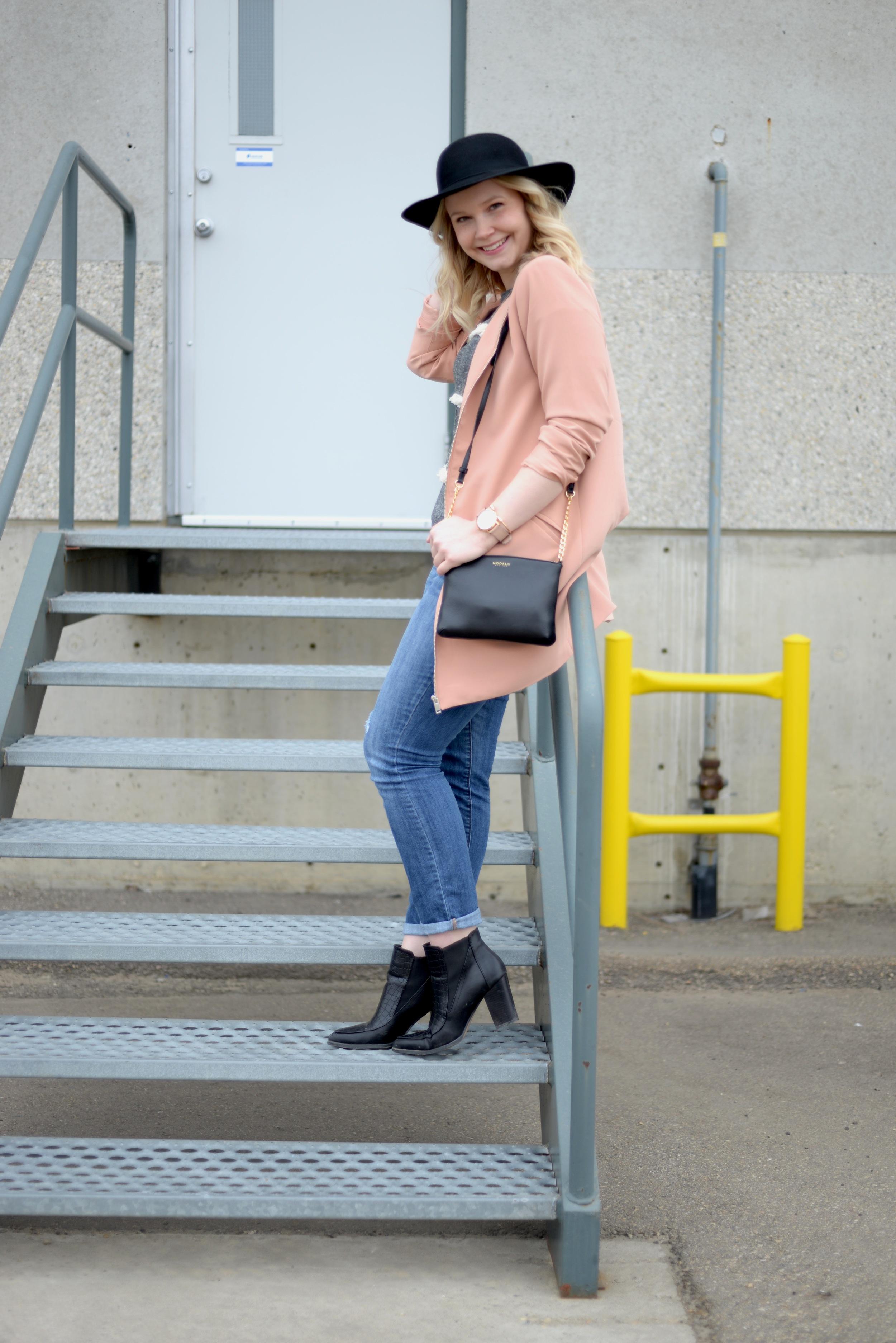 long pink blazer