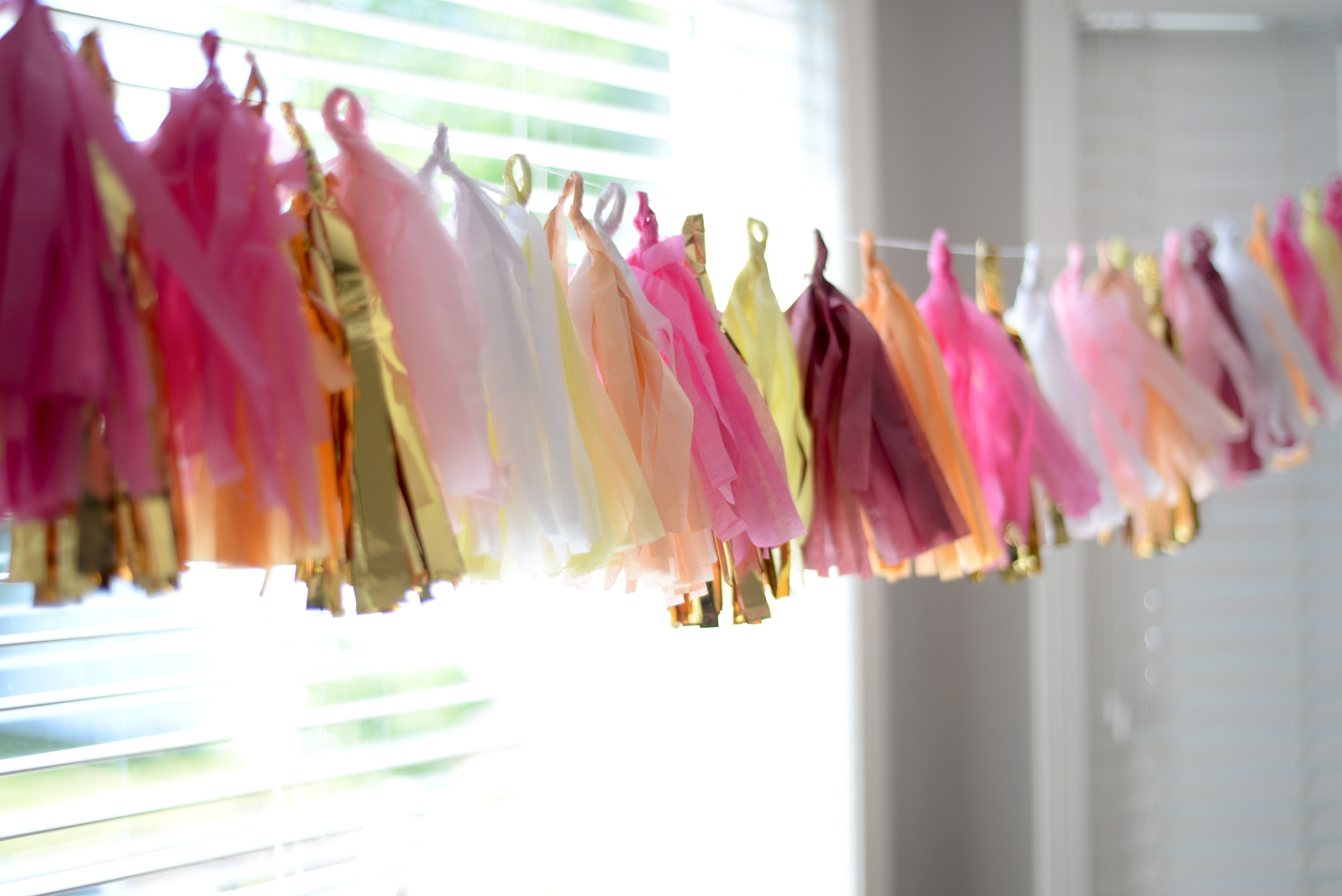 DIY tissue tassels