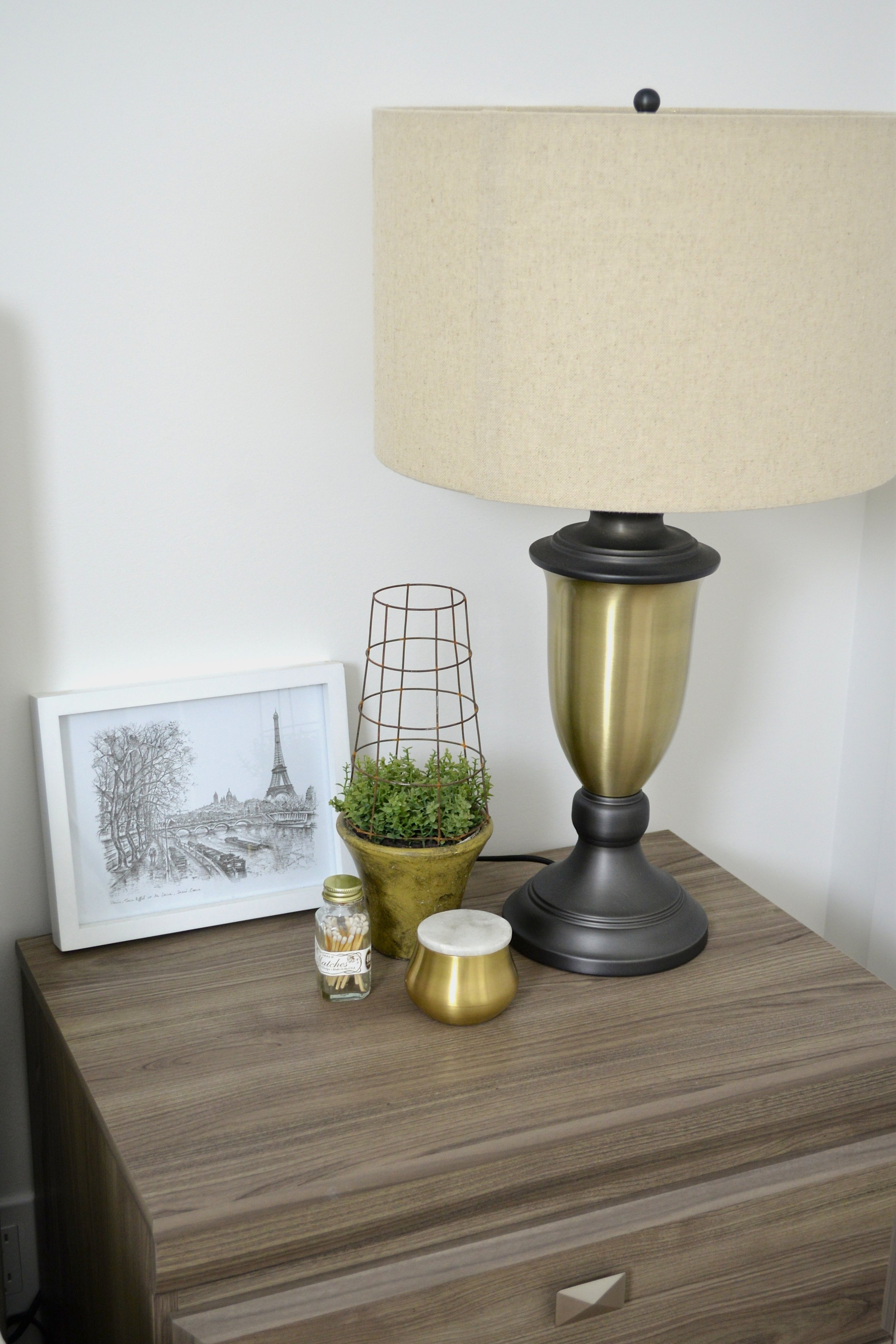styled bedside table