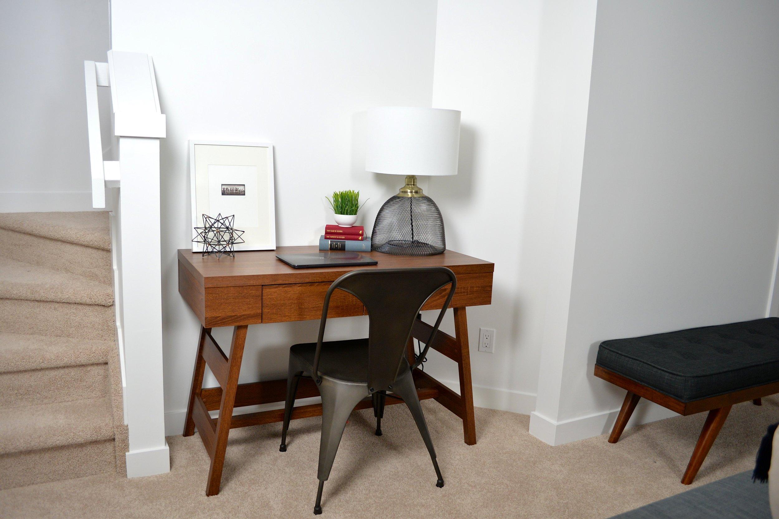 modern minimalist workspace