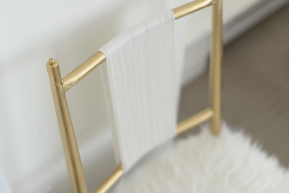 gold chair diy