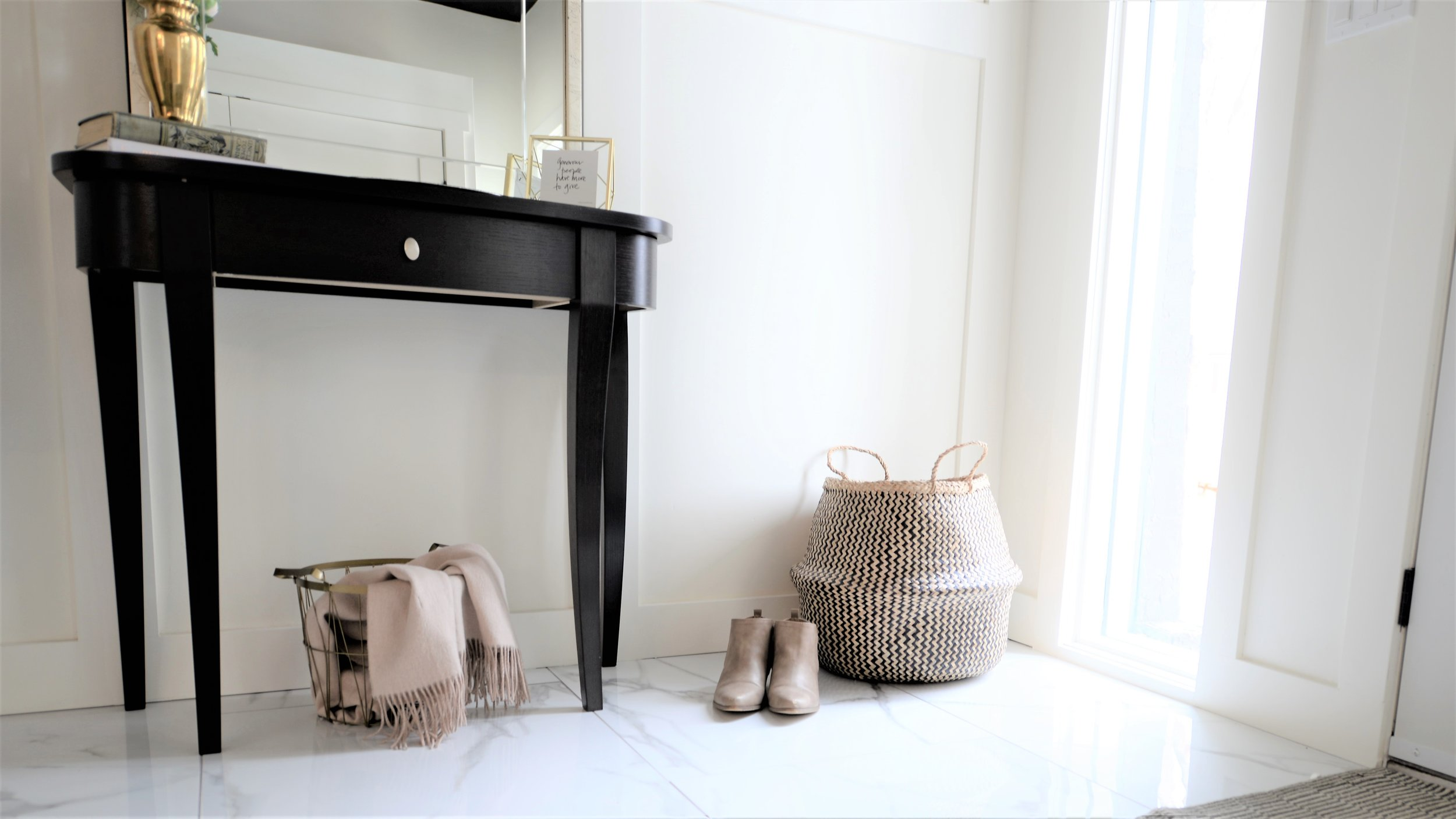 front entry console table