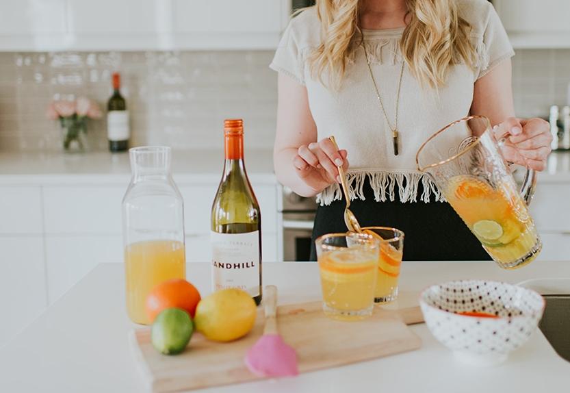 simple white wine sangria