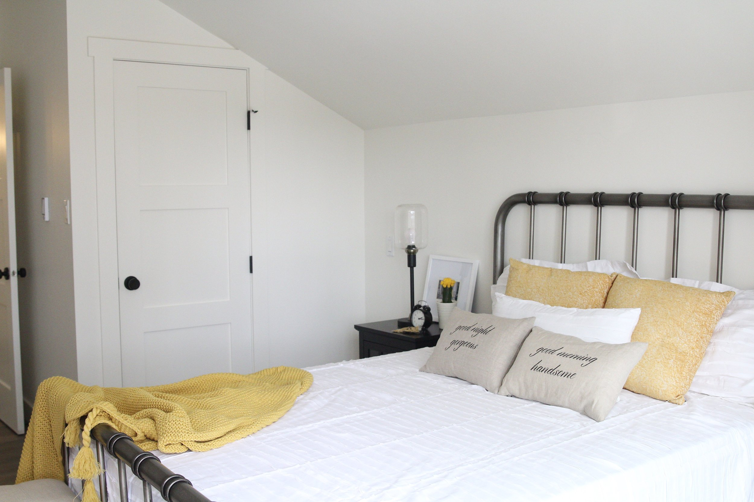 bedroom with yellow