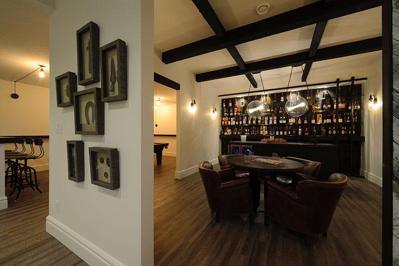 home with scotch bar