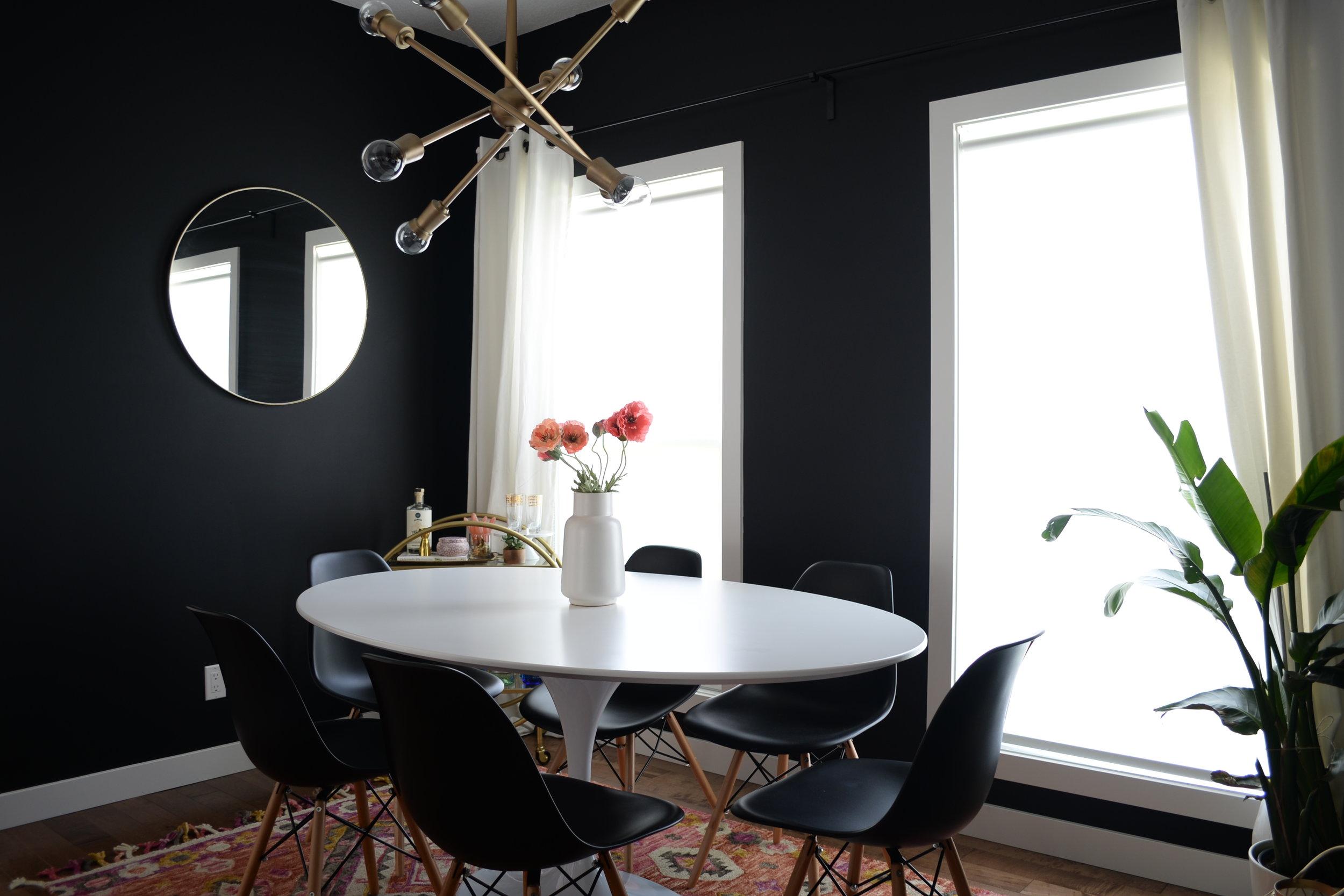 benjamin moore onyx eclectic dining room