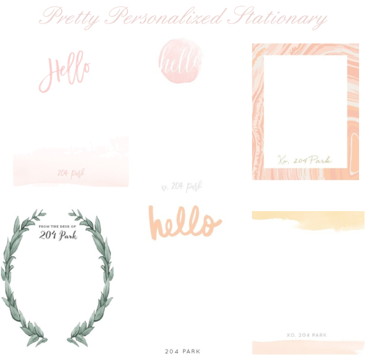 pretty personal stationary examples
