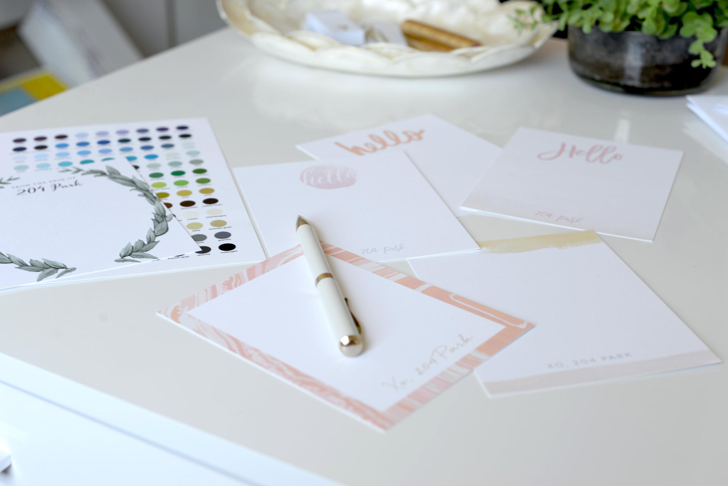 basic invite personalized stationary