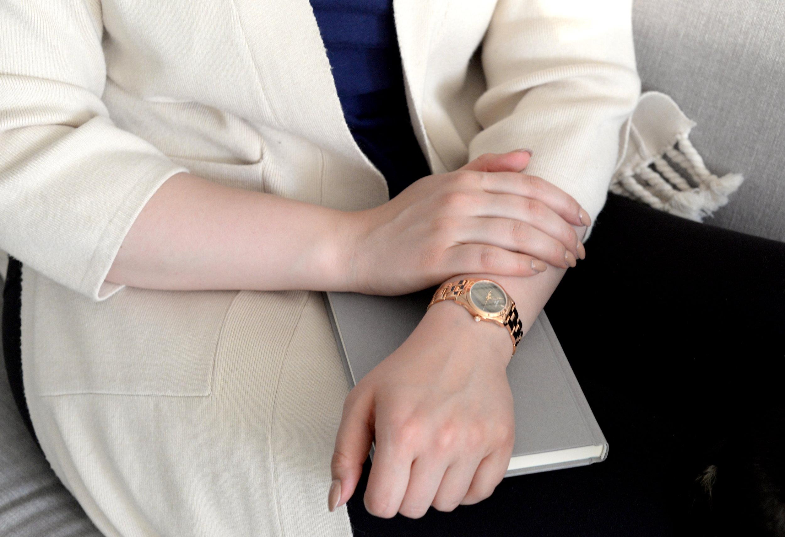 women's rosegold watch tissot