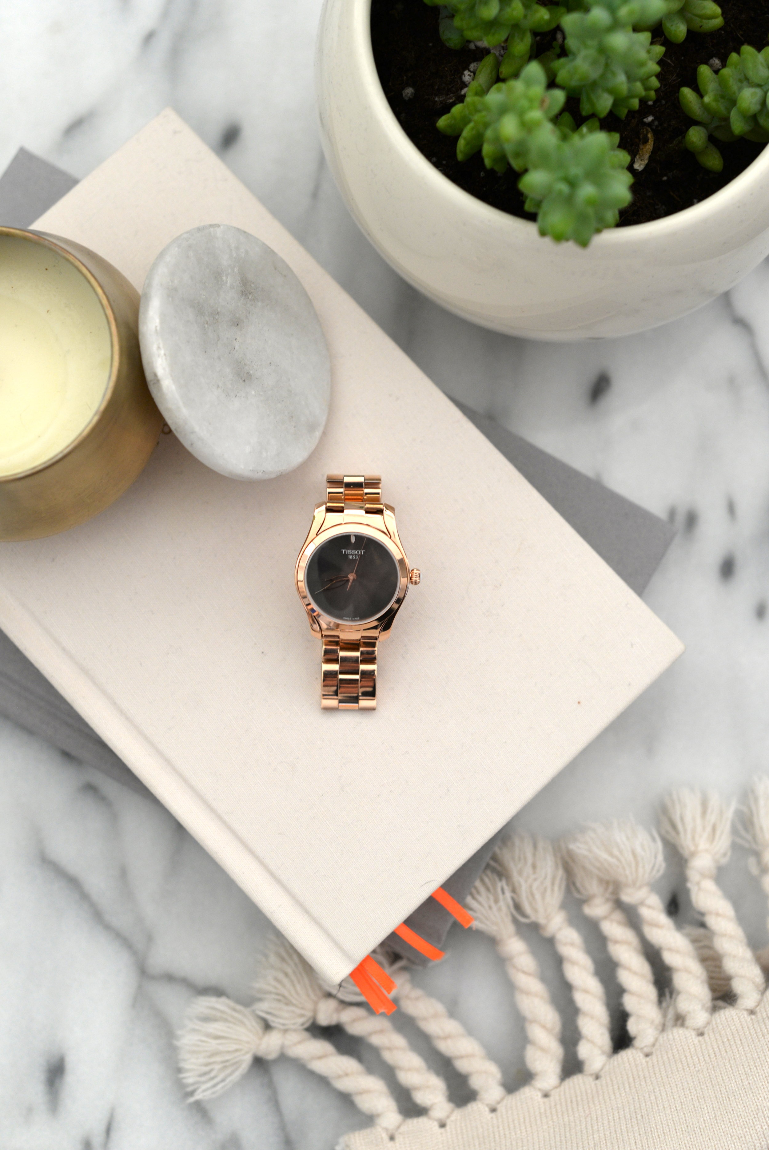 rosegold tissot watch