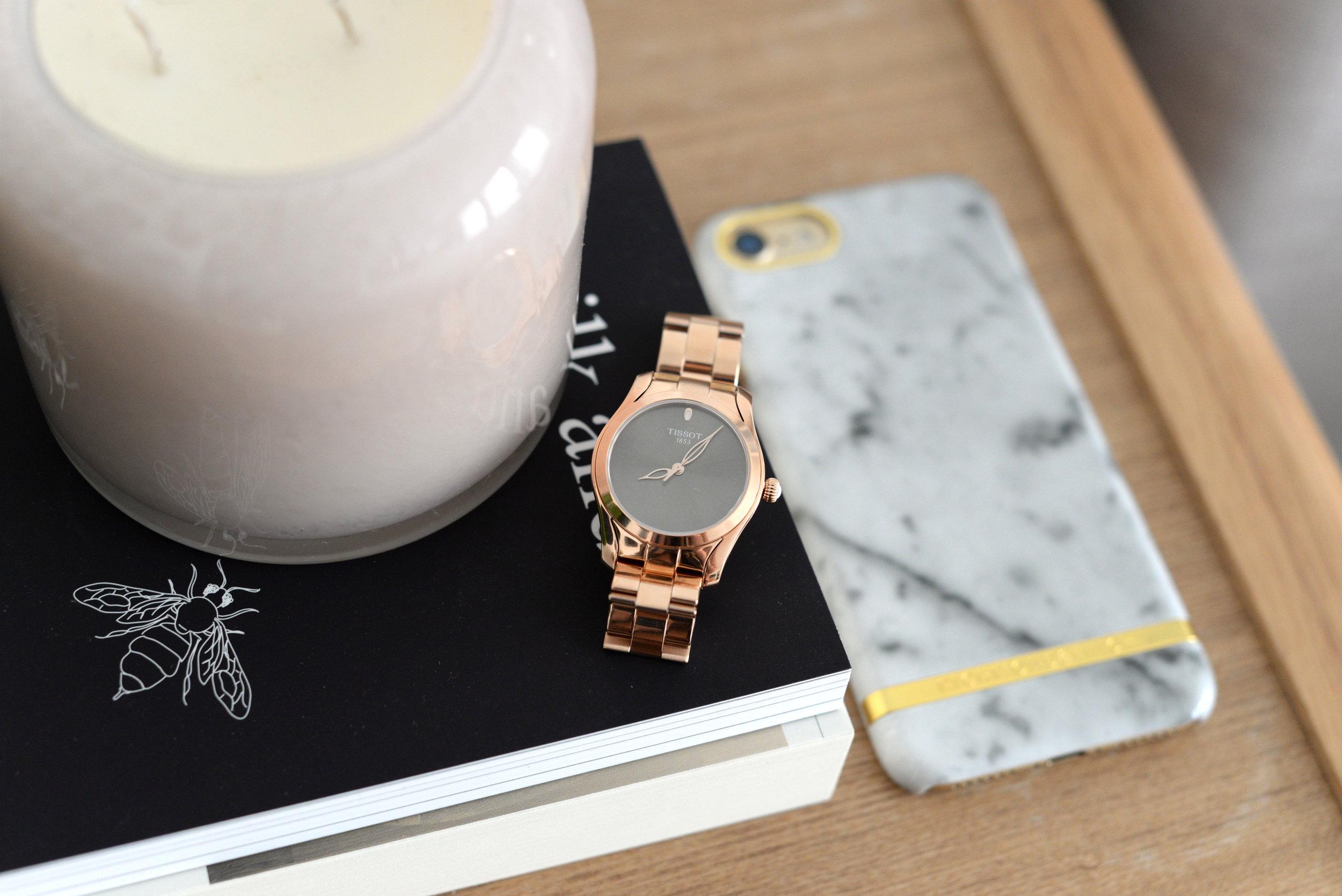 tissot rosegold watch