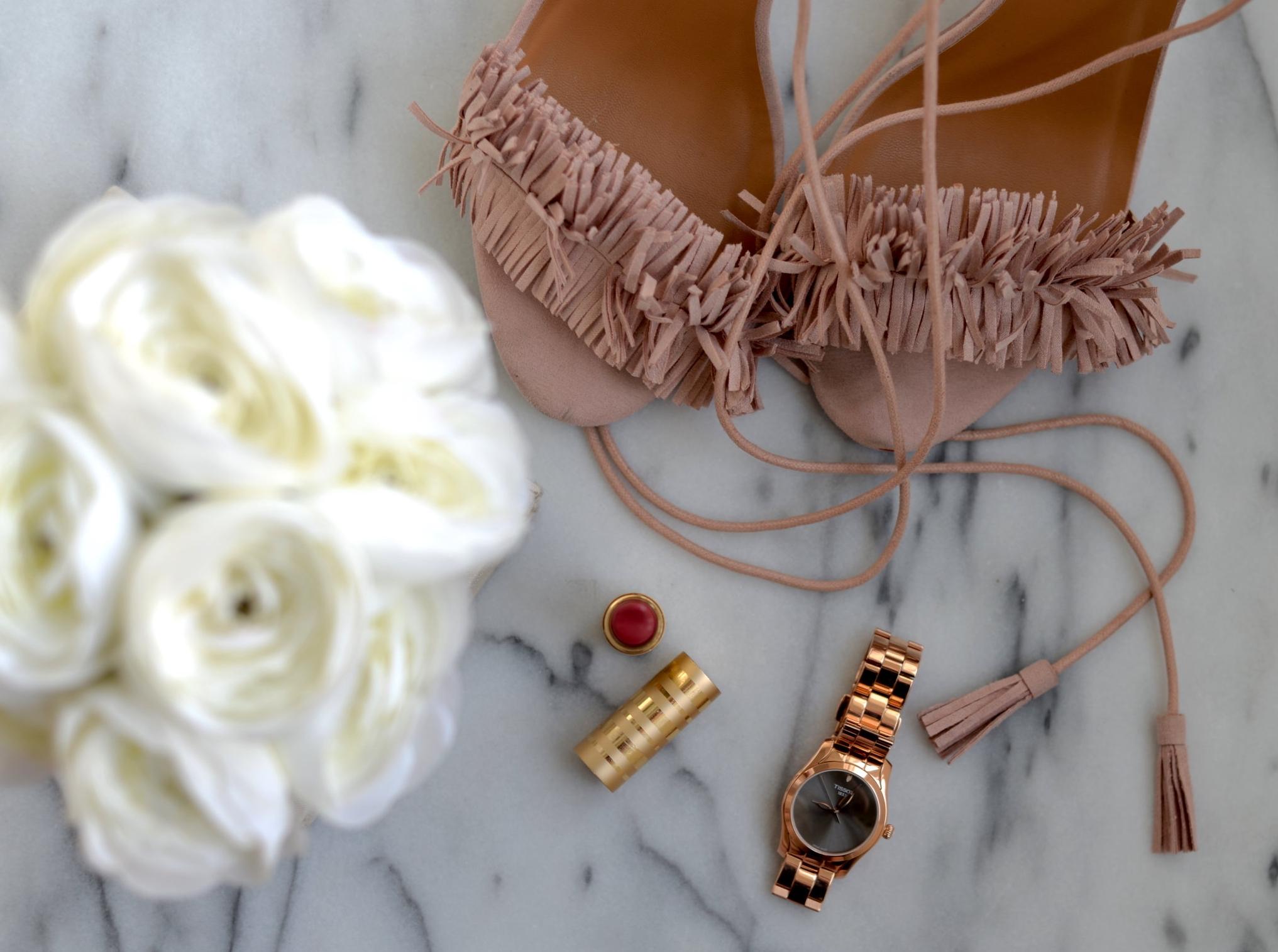 women's rosegold watch