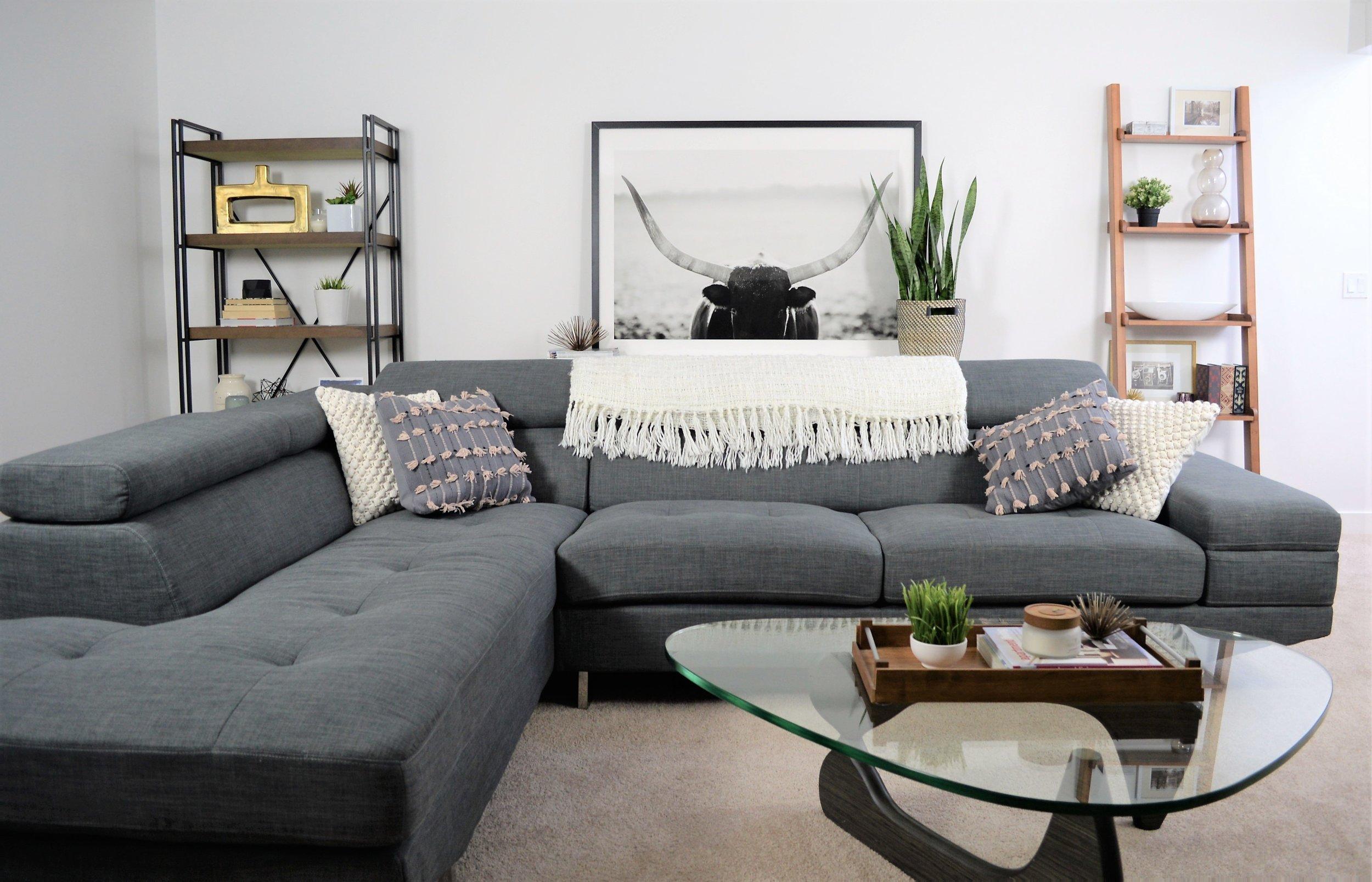 stylish modern basement