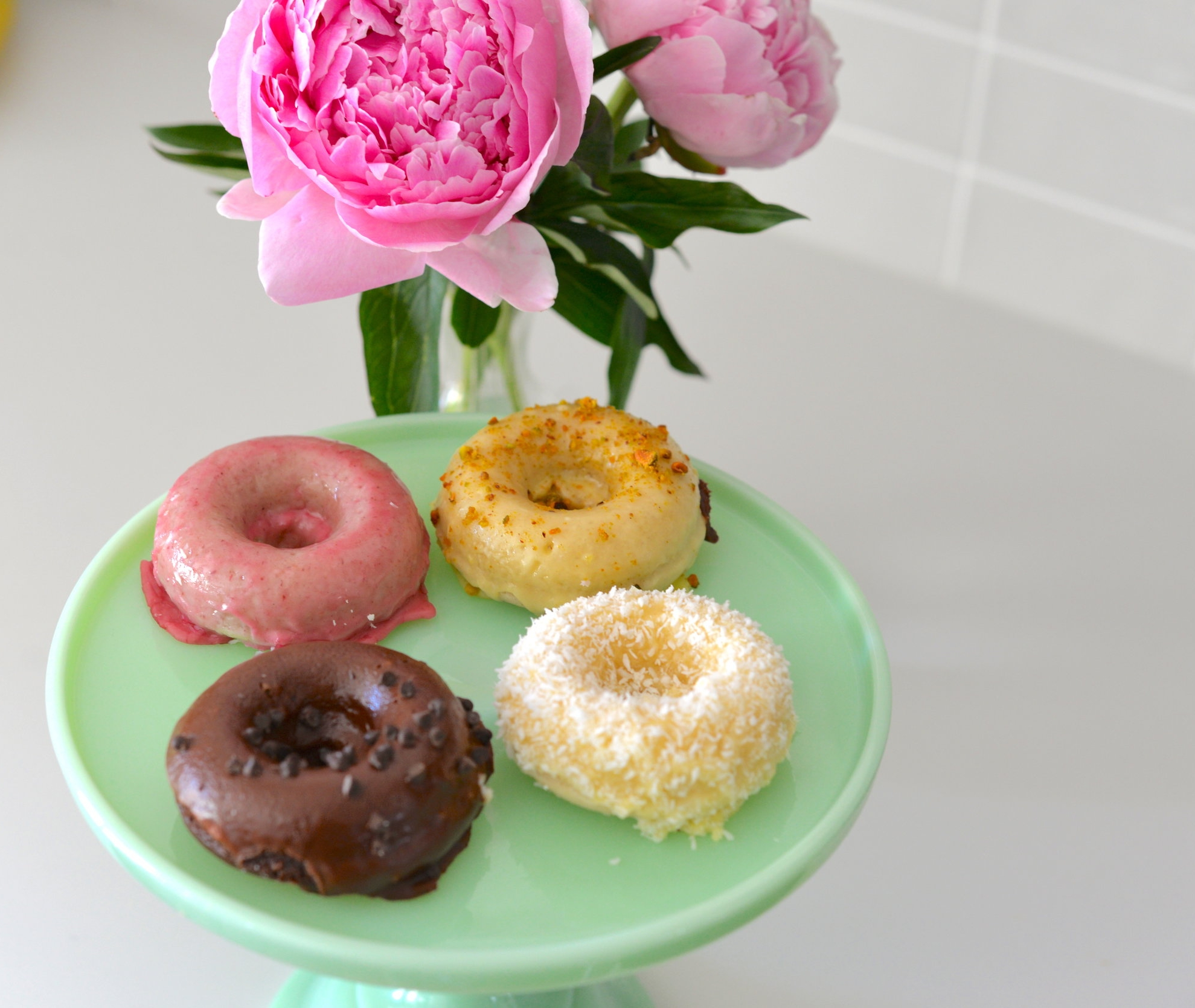 donuts and peonies
