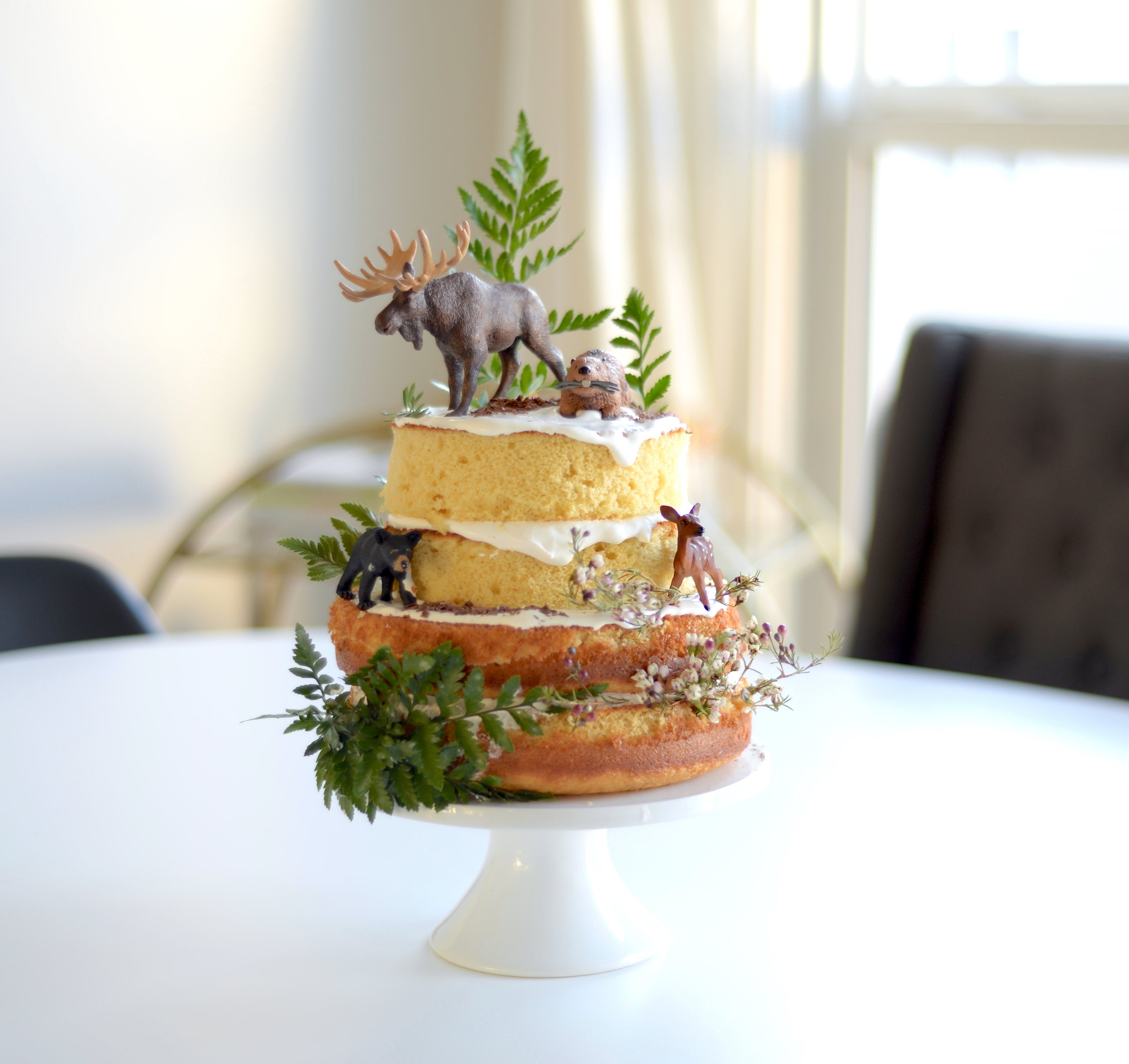 naked cake nature inspired