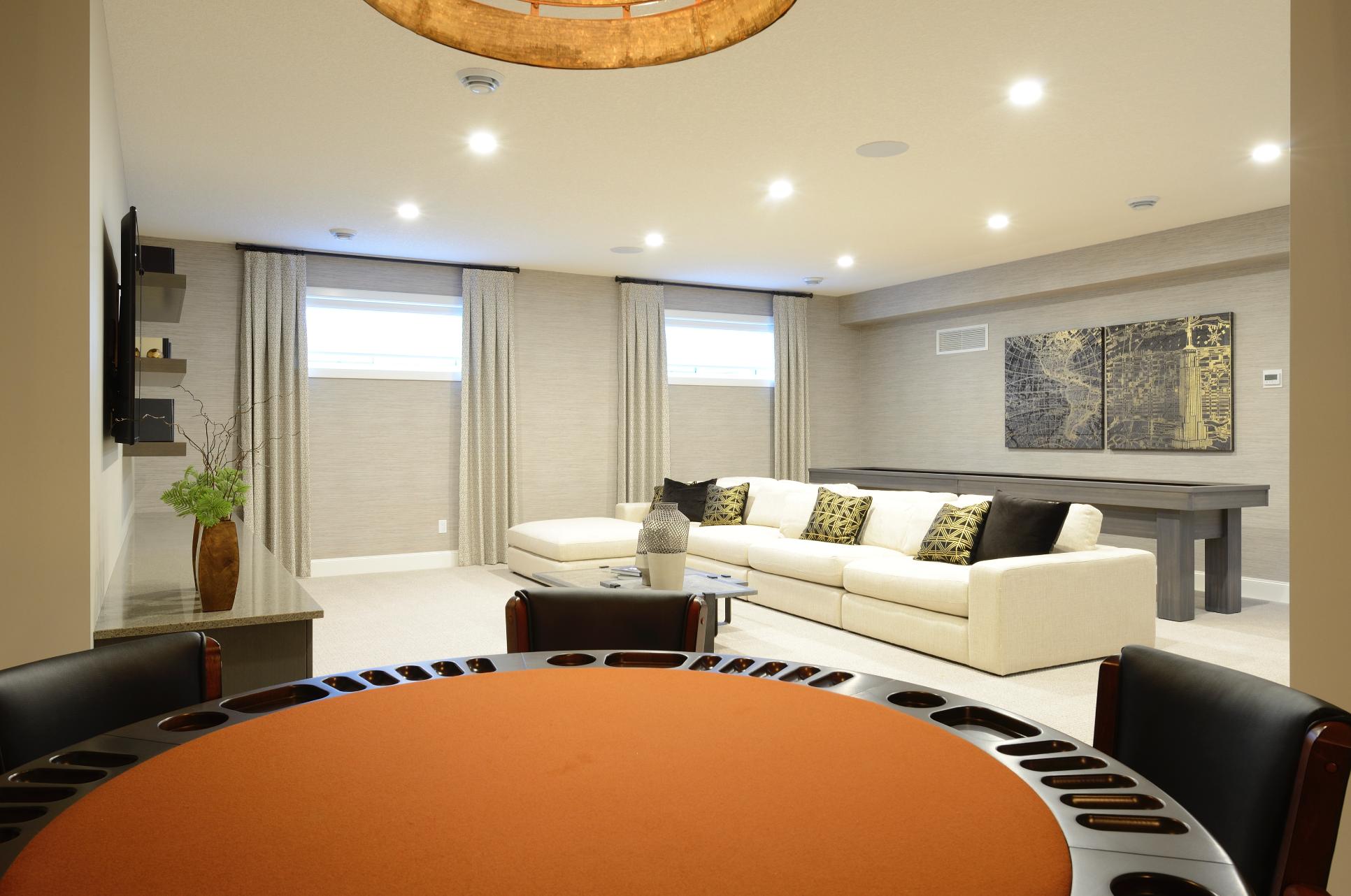 bright basement inspiration