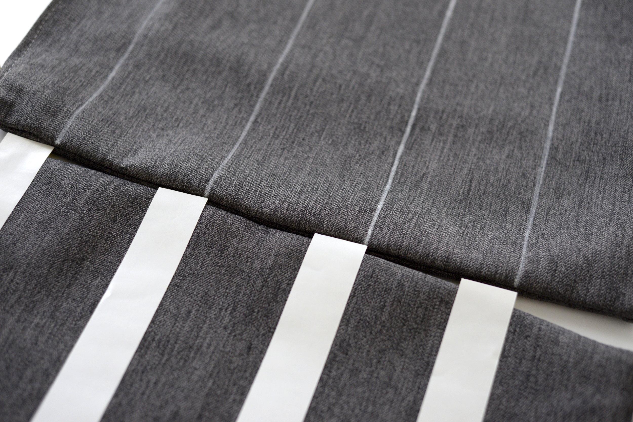 grey striped cushion DIY